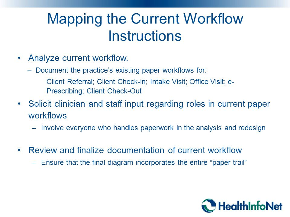 Mapping the Current Workflow Instructions