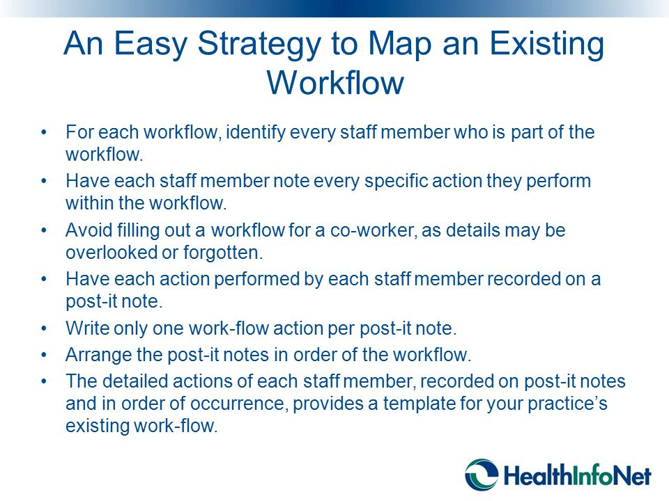 An Easy Strategy to Map an Existing Workflow