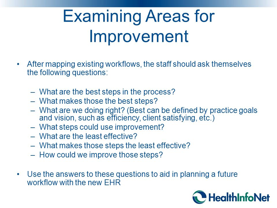 Examining Areas for Improvement
