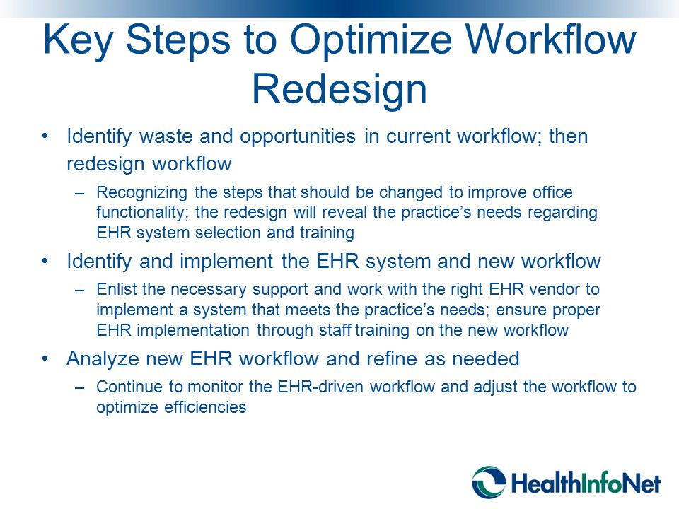 Key Steps to Optimize Workflow Redesign