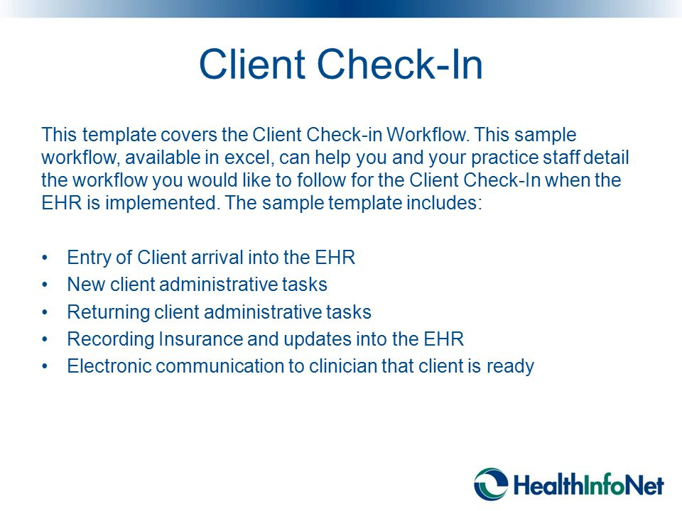Client Check-In