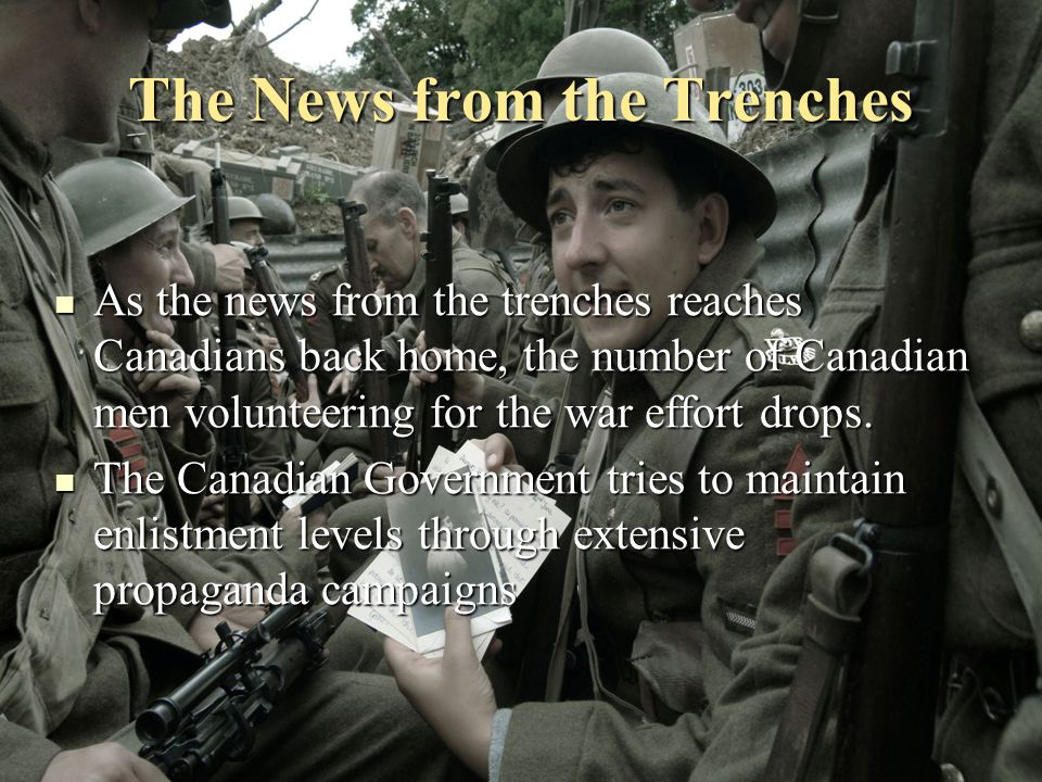 The News from the Trenches