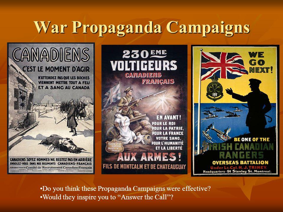 War Propaganda Campaigns