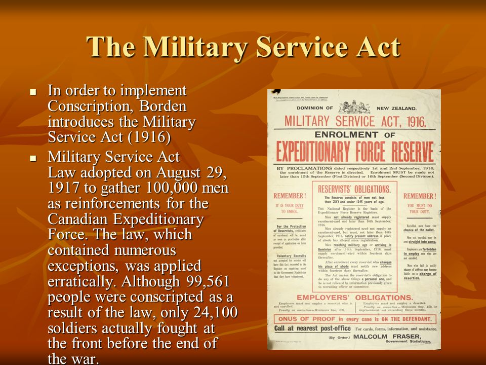 The Military Service Act