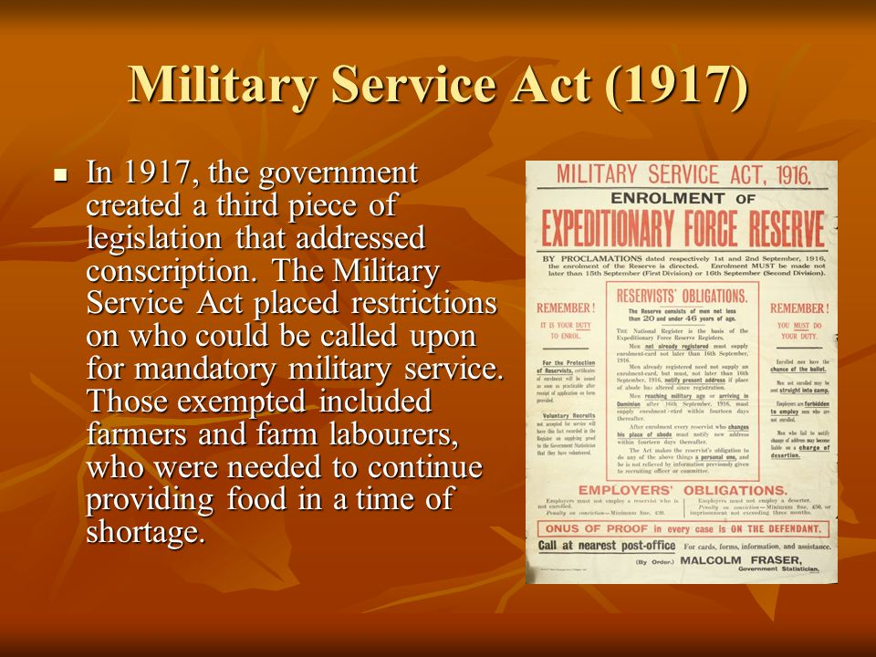 Military Service Act (1917)