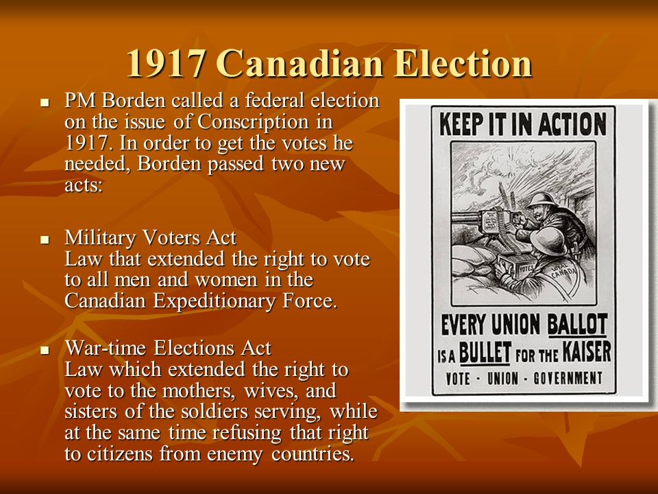 1917 Canadian Election