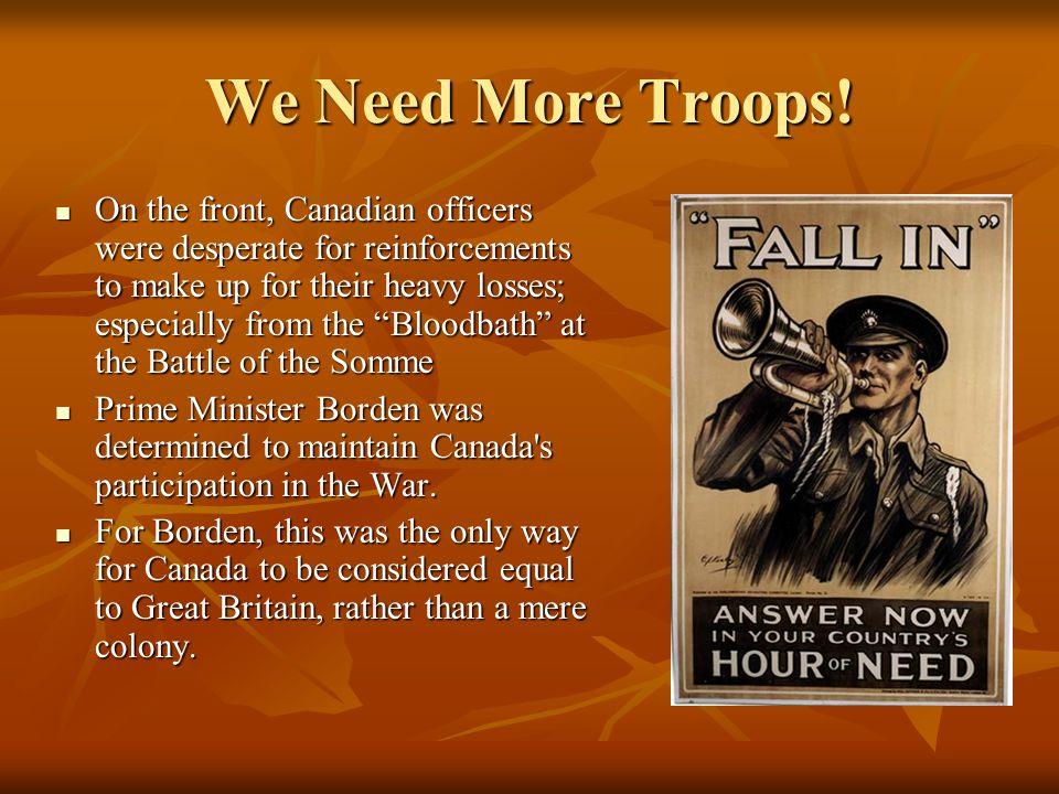 We Need More Troops!