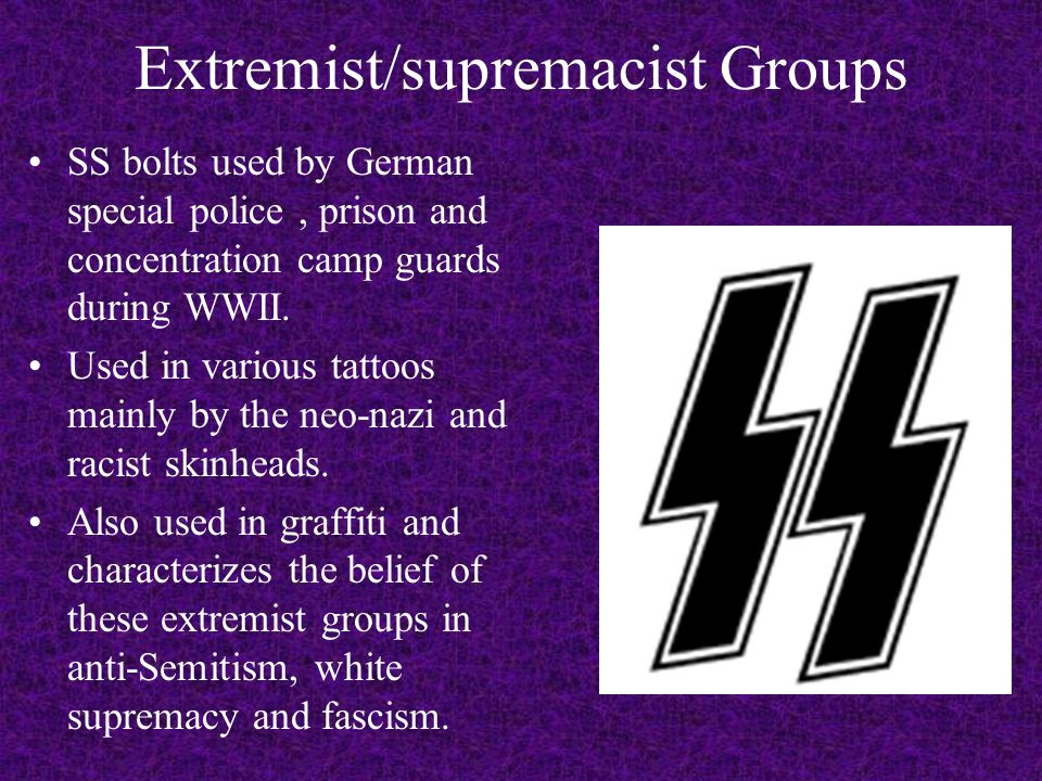 Extremist/supremacist Groups