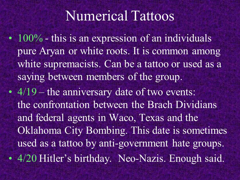 Numerical Tattoos