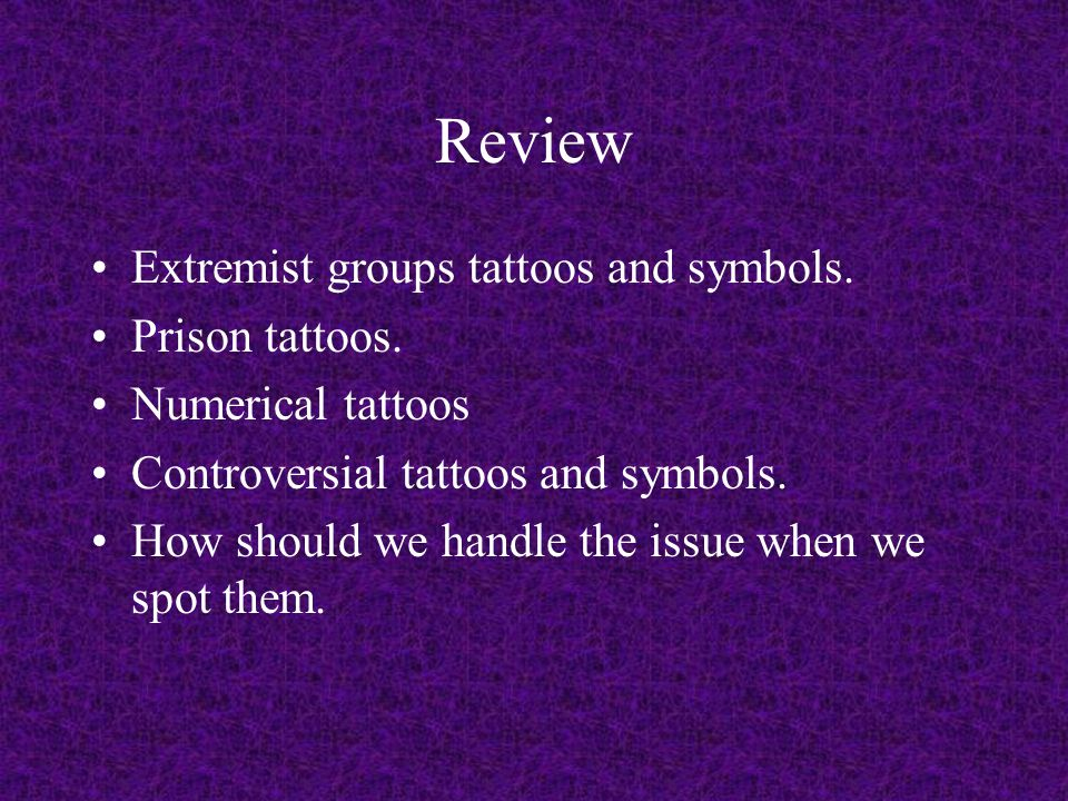 Review Extremist groups tattoos and symbols. Prison tattoos.