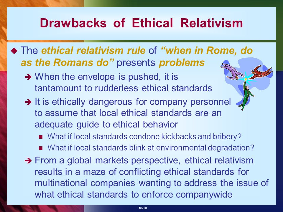 Drawbacks of Ethical Relativism