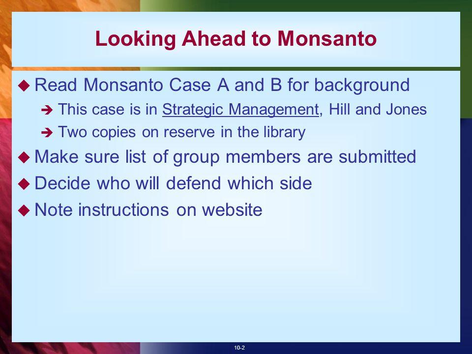 Looking Ahead to Monsanto