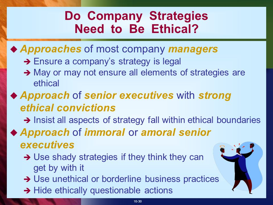 Do Company Strategies Need to Be Ethical