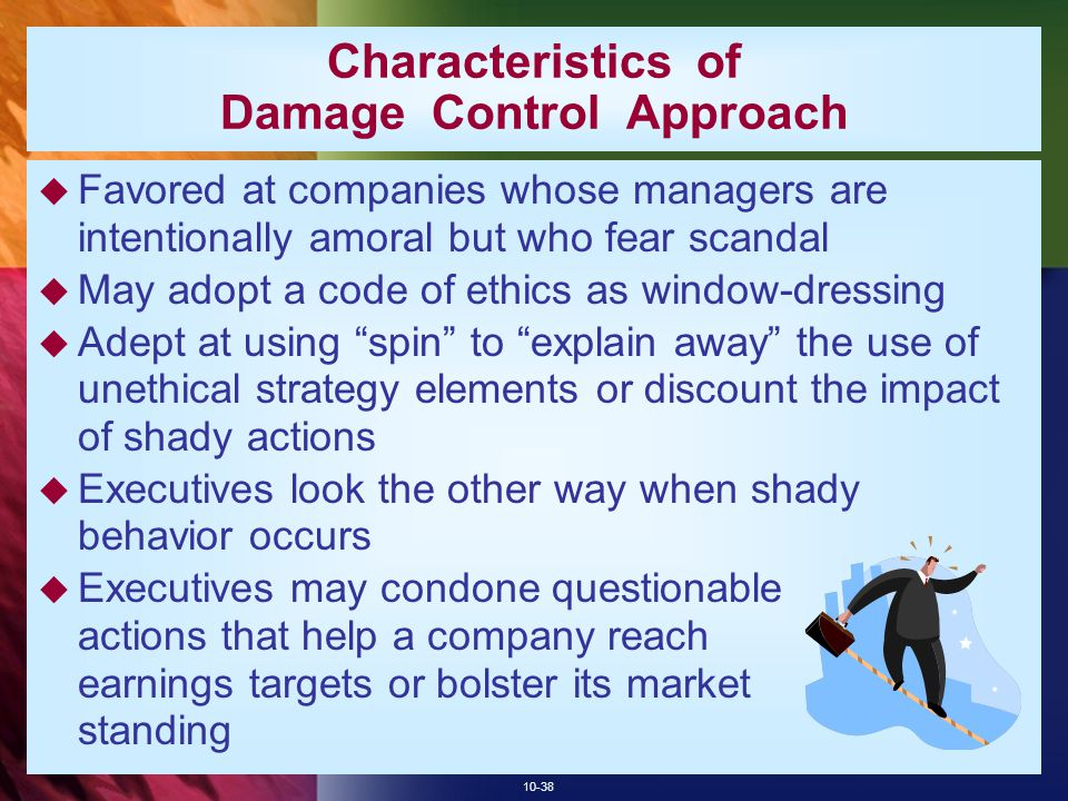 Characteristics of Damage Control Approach
