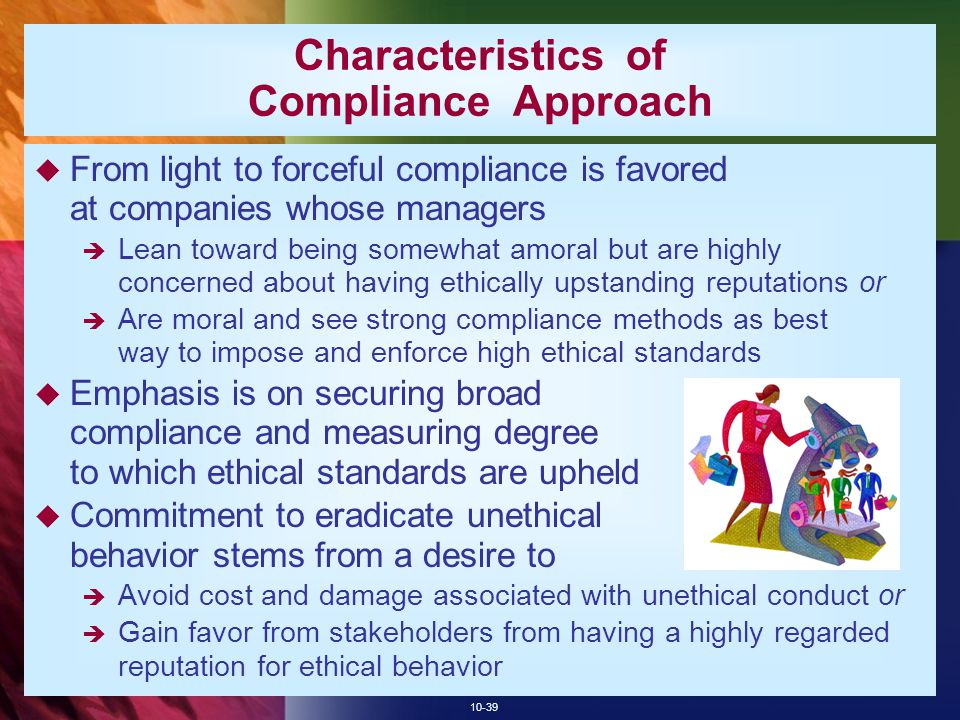 Characteristics of Compliance Approach
