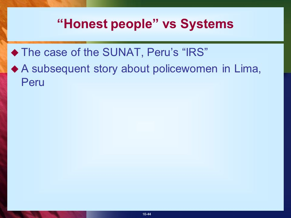 Honest people vs Systems