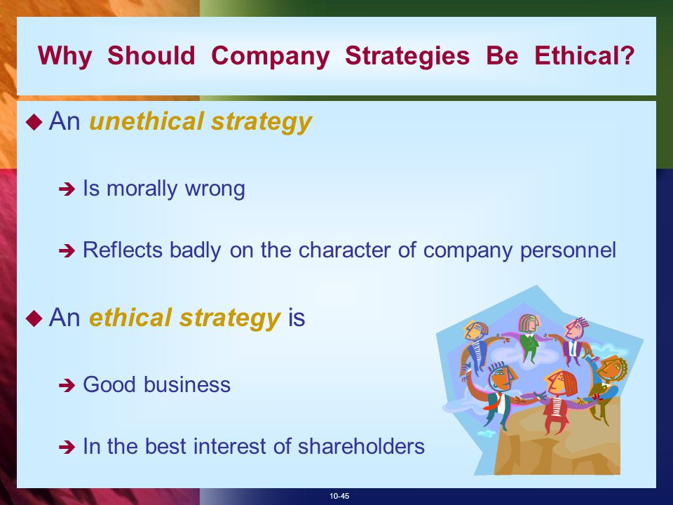 Why Should Company Strategies Be Ethical