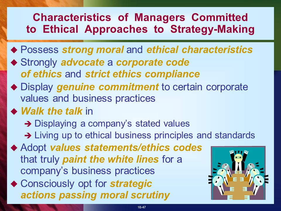 Characteristics of Managers Committed to Ethical Approaches to Strategy-Making
