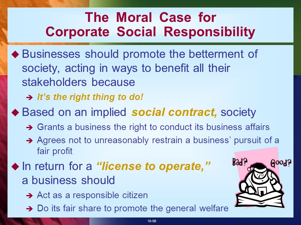 The Moral Case for Corporate Social Responsibility