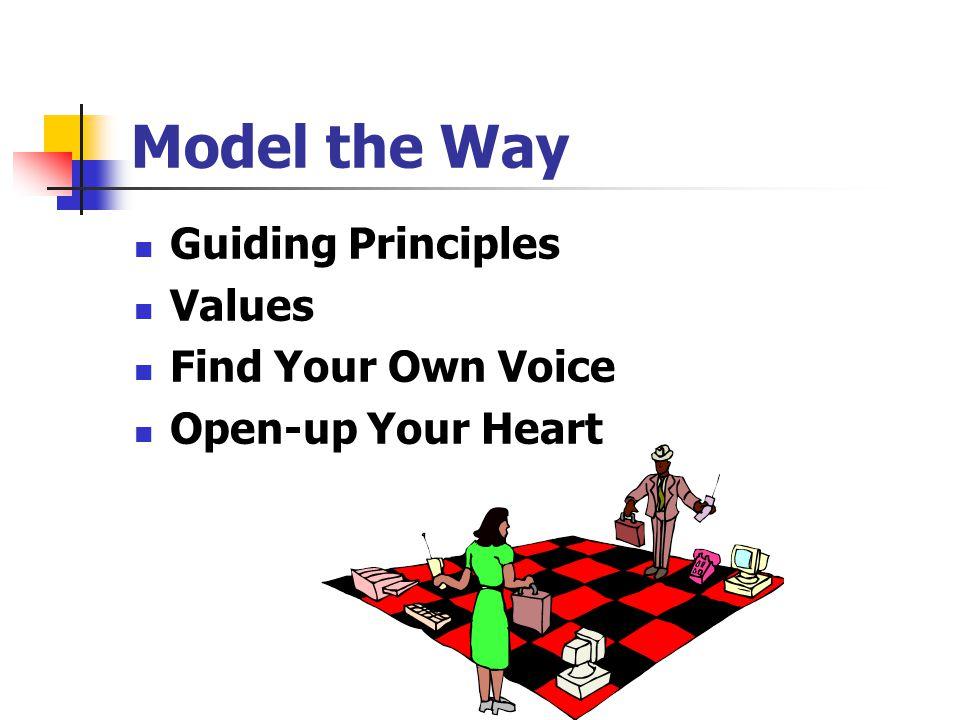 Model the Way Guiding Principles Values Find Your Own Voice