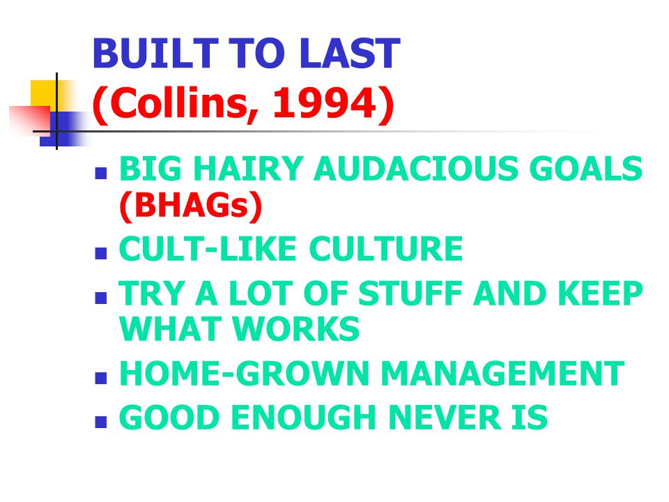 BUILT TO LAST (Collins, 1994)