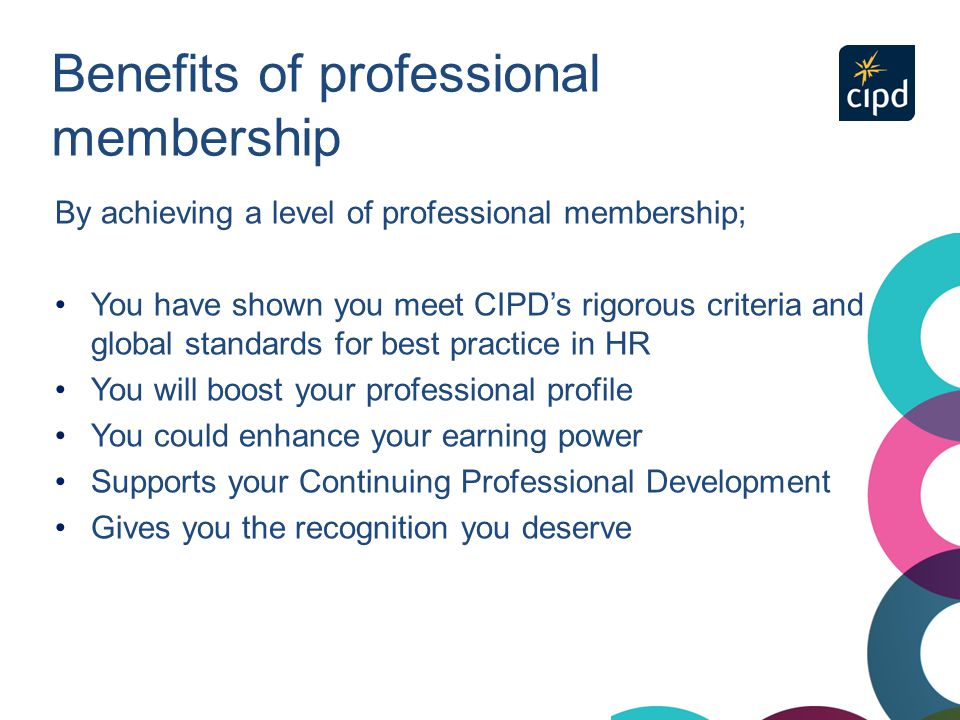 Benefits of professional membership