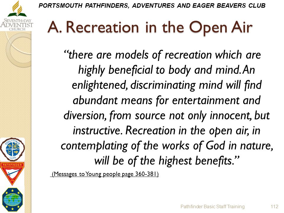 A. Recreation in the Open Air
