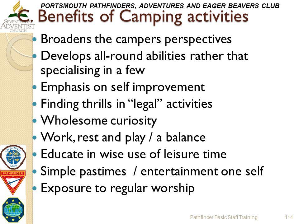 C. Benefits of Camping activities