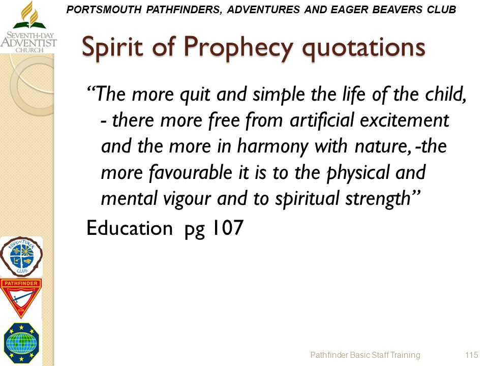 Spirit of Prophecy quotations