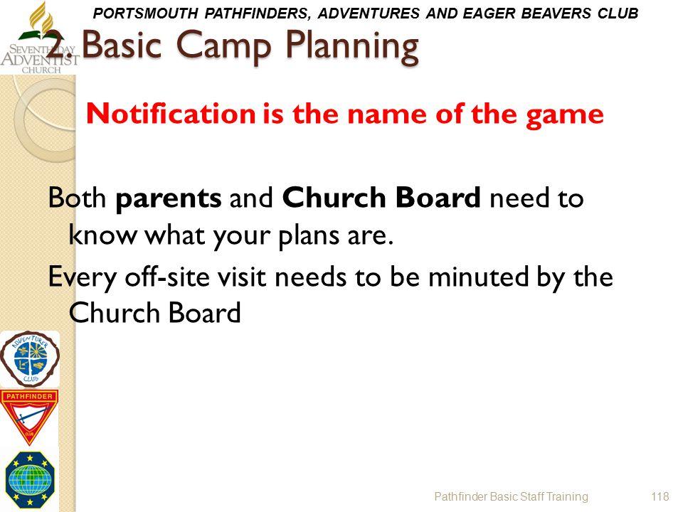 2. Basic Camp Planning