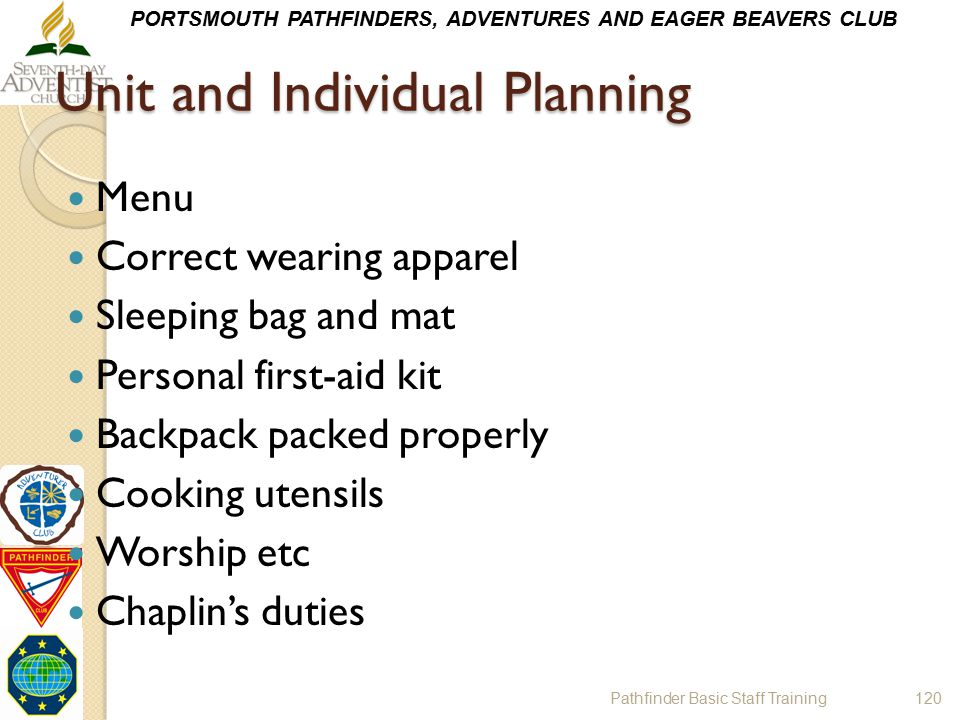 Unit and Individual Planning