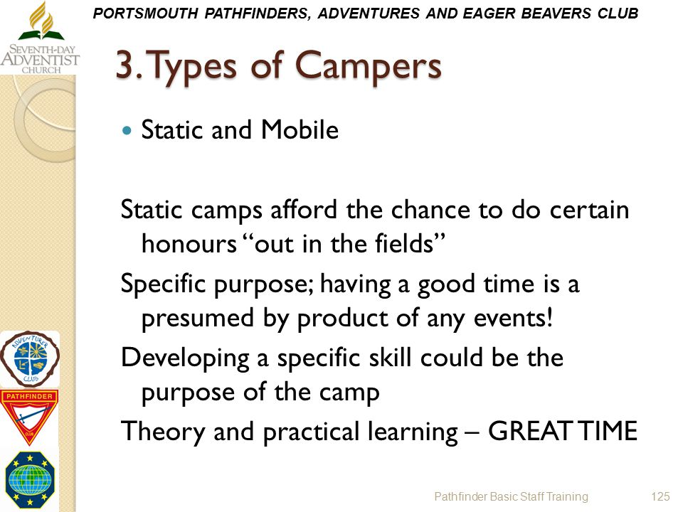 3. Types of Campers Static and Mobile