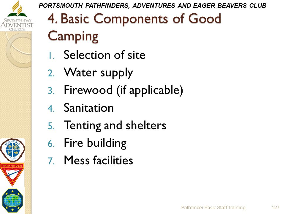 4. Basic Components of Good Camping