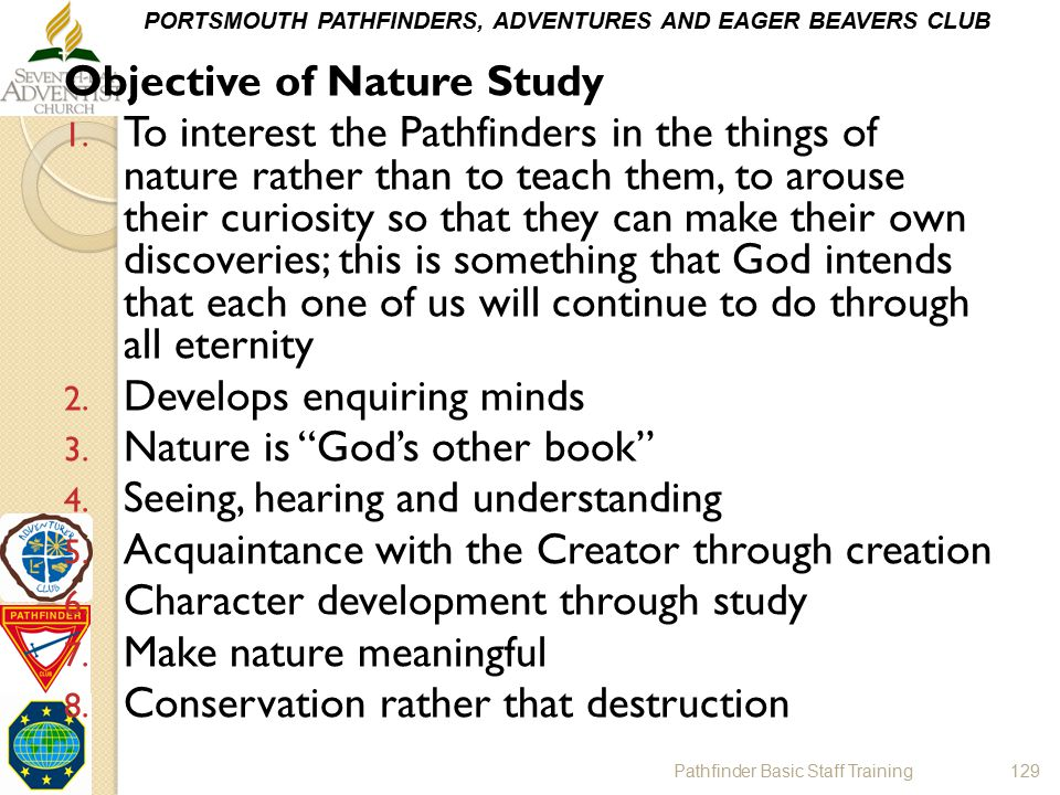 Objective of Nature Study