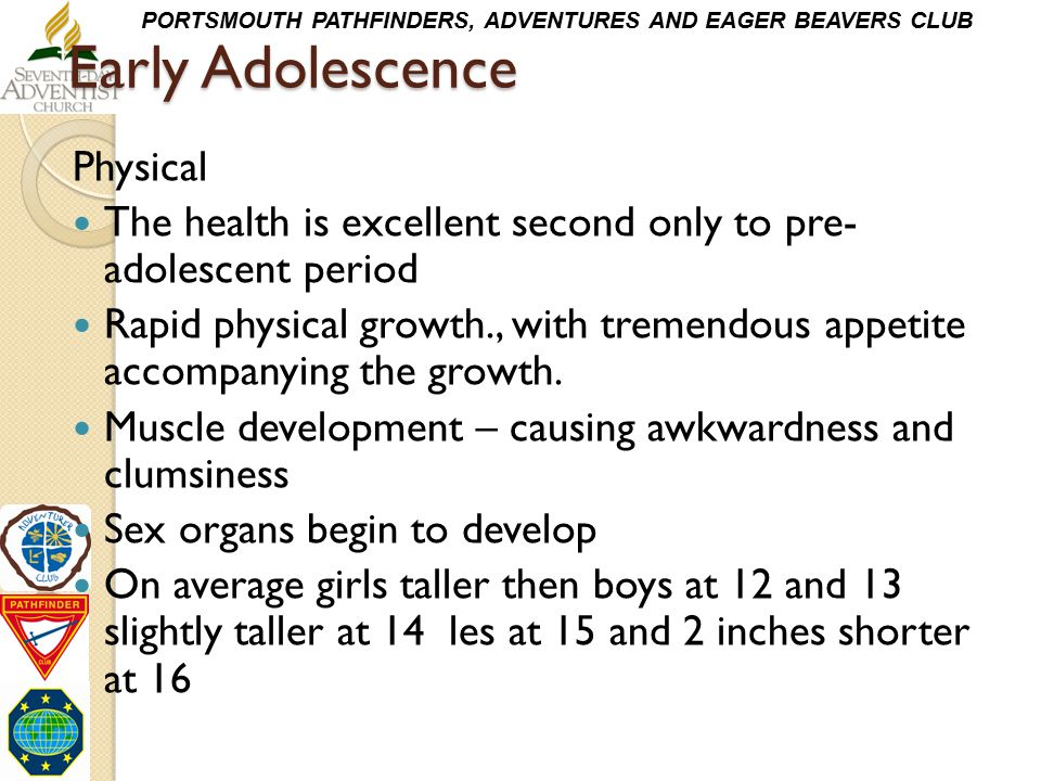 Early Adolescence Physical