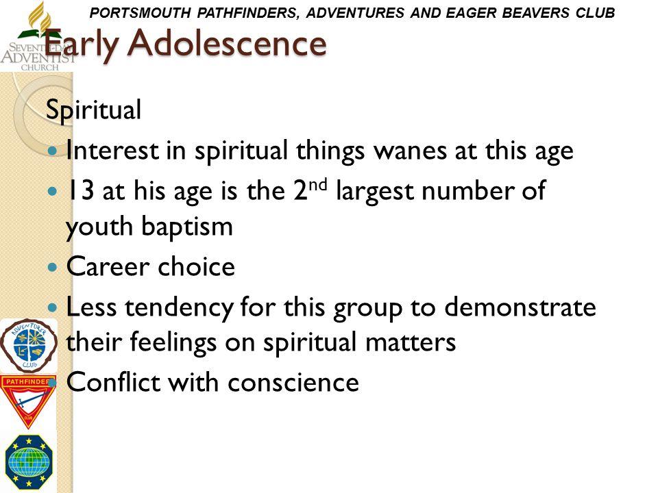 Early Adolescence Spiritual