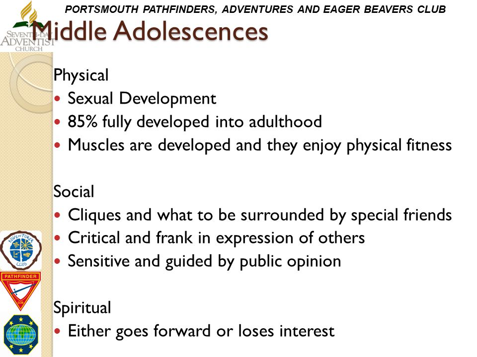 Middle Adolescences Physical Sexual Development