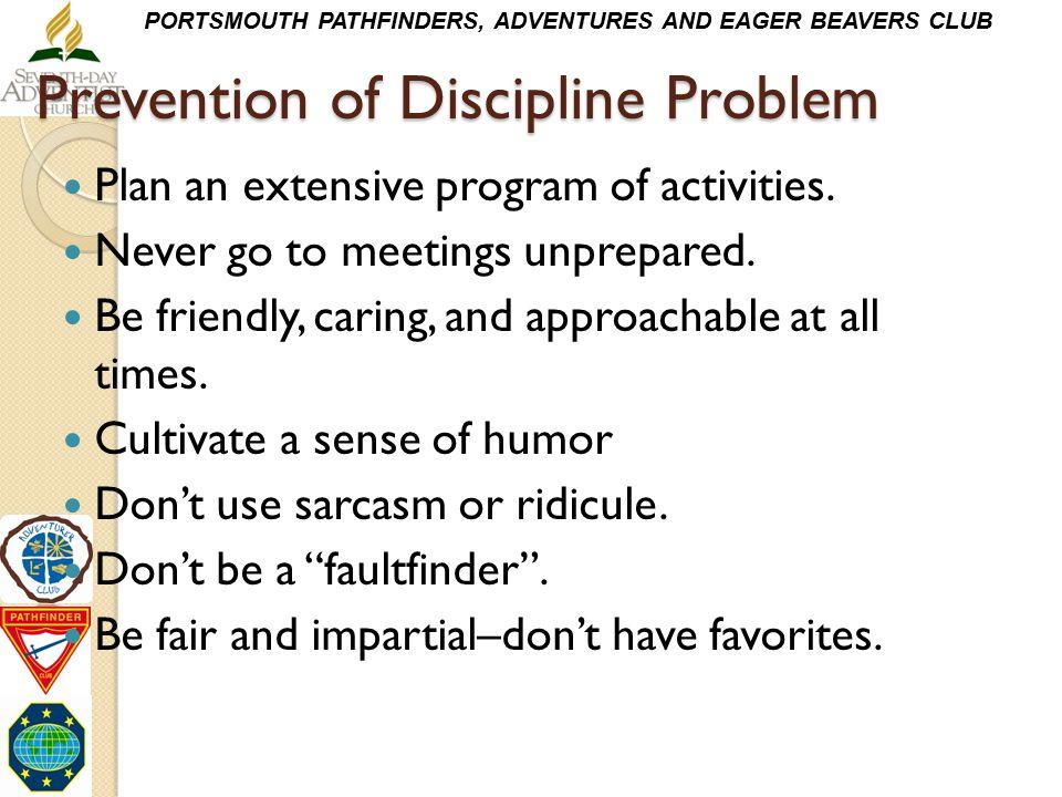 Prevention of Discipline Problem