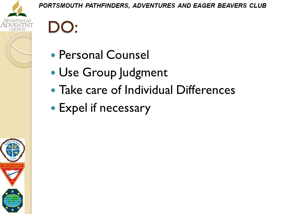 DO: Personal Counsel Use Group Judgment