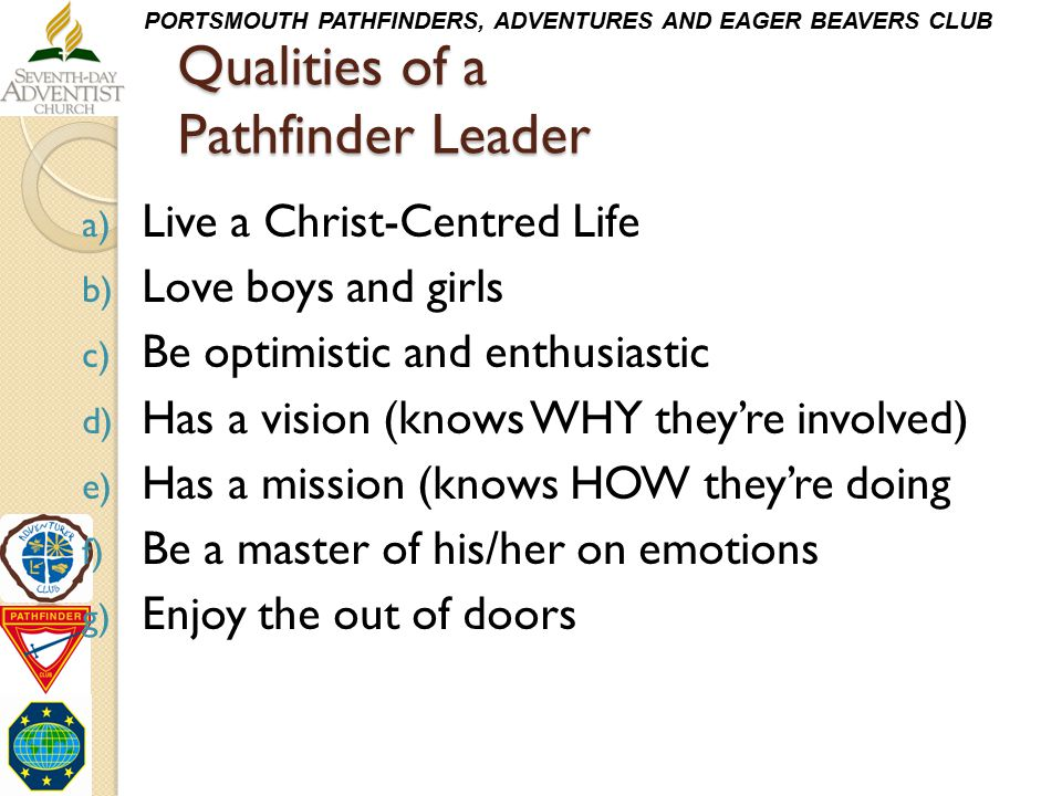 Qualities of a Pathfinder Leader