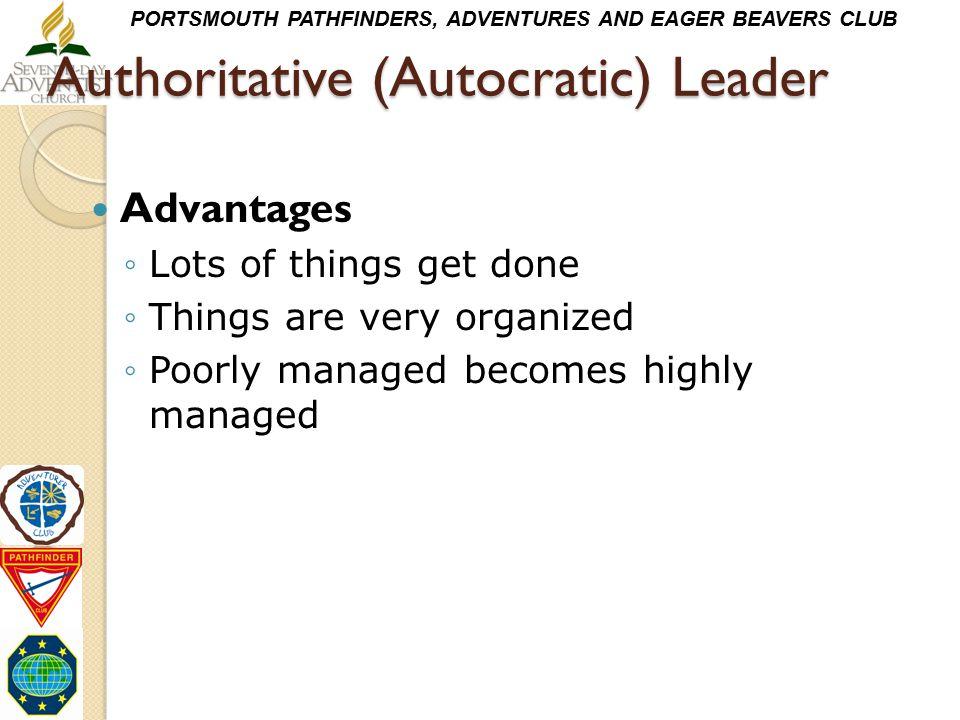 Authoritative (Autocratic) Leader
