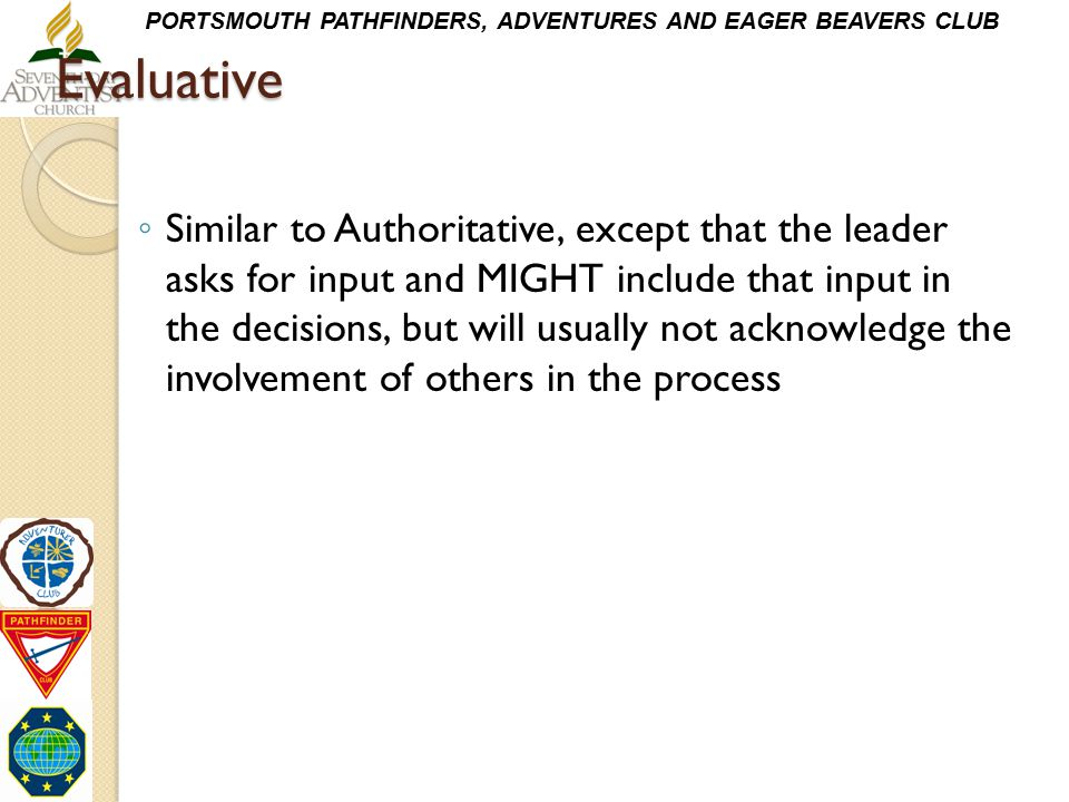 Evaluative