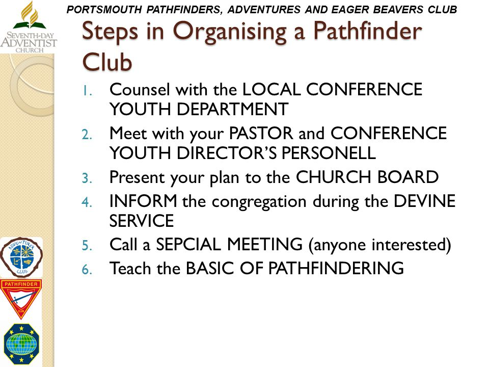 Steps in Organising a Pathfinder Club