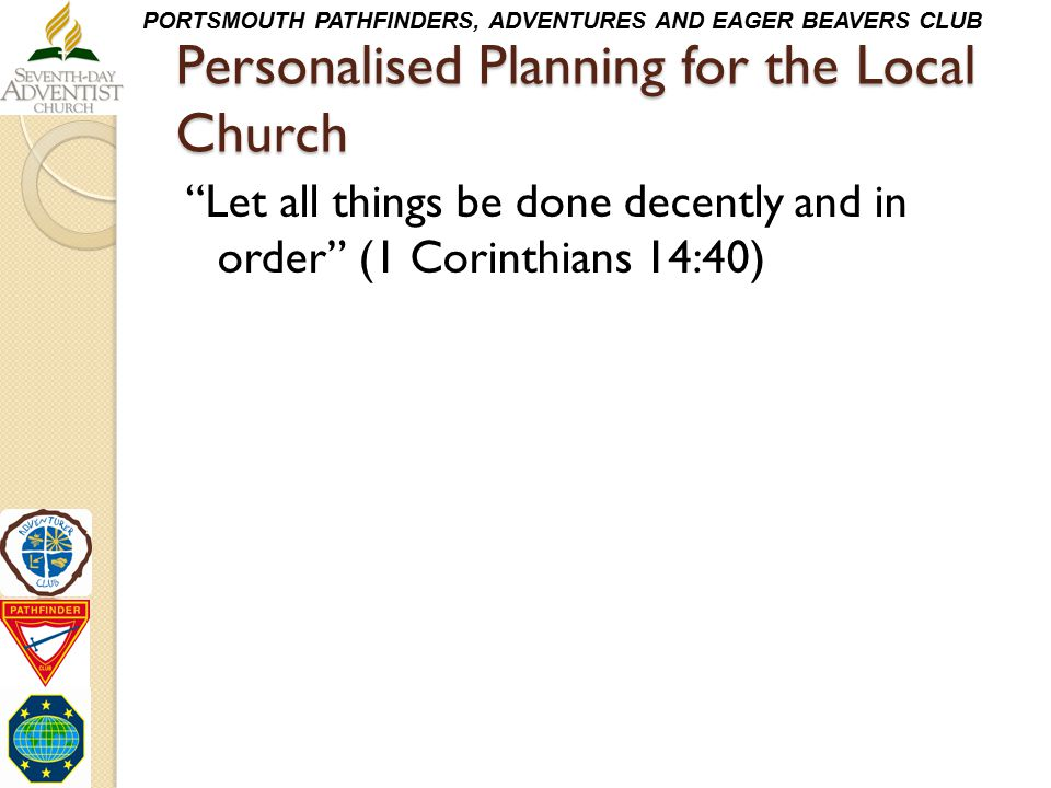 Personalised Planning for the Local Church