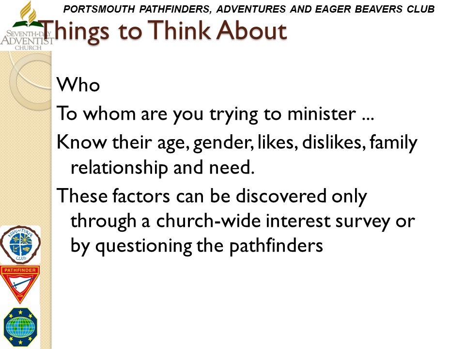 Things to Think About