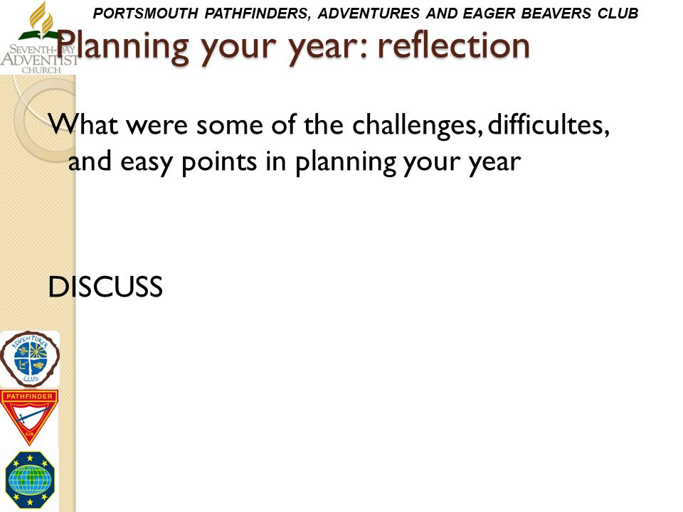 Planning your year: reflection