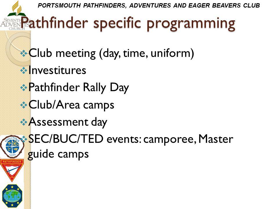 Pathfinder specific programming