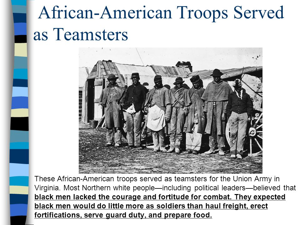 African-American Troops Served as Teamsters