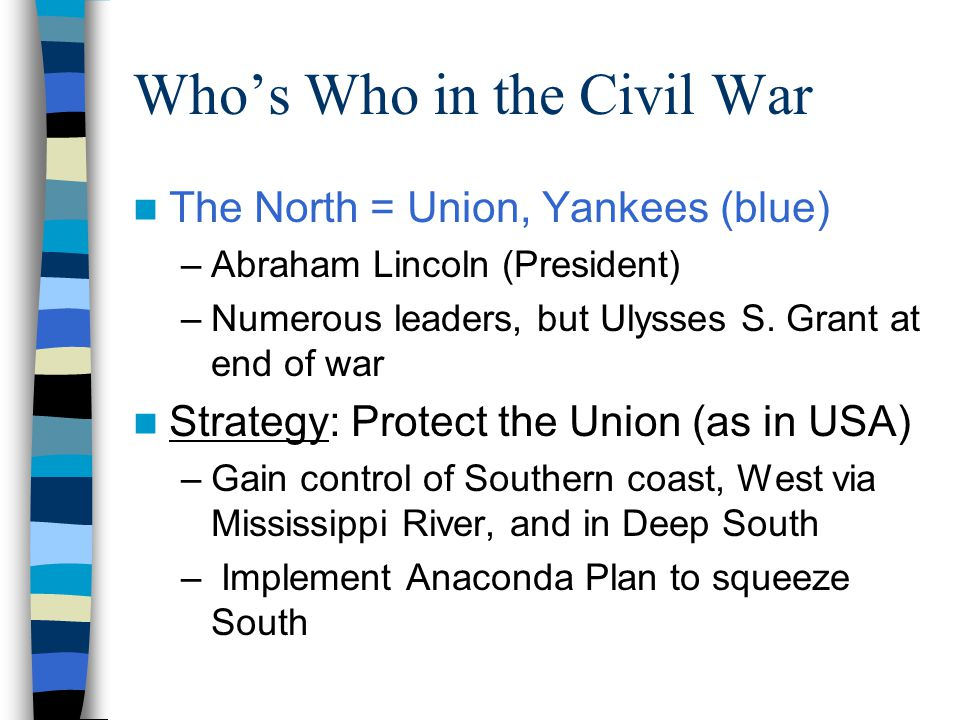 Who's Who in the Civil War