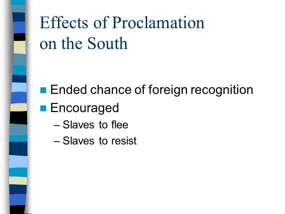 Effects of Proclamation on the South